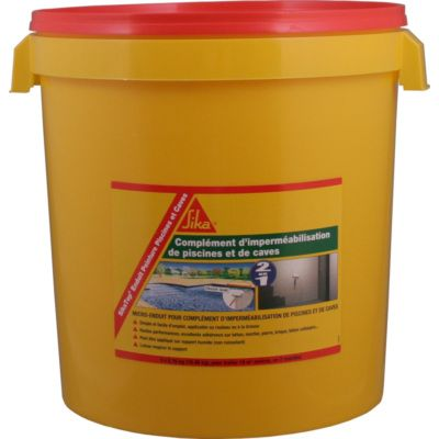 Sika enduit piscine seau 18 5kg etanch it for Ragreage pour piscine