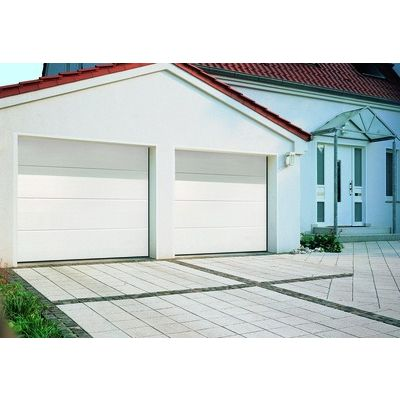 PORTE SECTIONNELLE GRIMAUD EVO 2375X2000 DP 42/20 MM RAL 9016 BLANC - RAINURES L