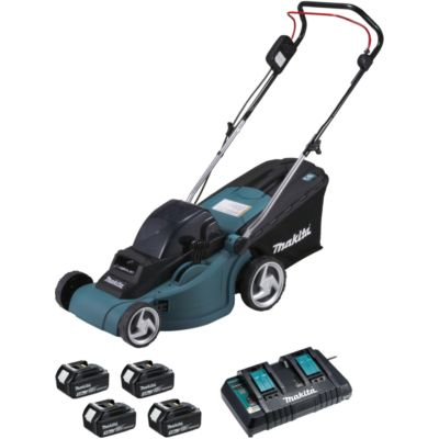 TONDEUSE SANS FIL MAKITA 36 V : 2X18 V LI-ON  38CM + 4 BATTERIES 3AH