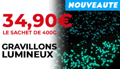 Gravillons noirs lumineux